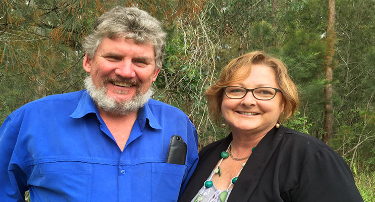 : Patrick Byron and Jenny Battrick want to work with Port Stephens residents to bring about change