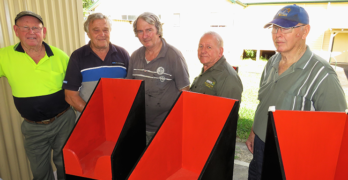 Bulahdelah Men's Shed kept busy with newsstand project