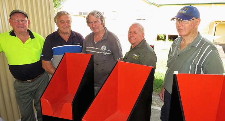 Teamwork: John Renfrew, Rodney Costall, Barry Holm, Peter Millen and Max Burrows.