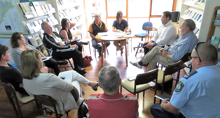Bulahdelah Activity Park committee meet to discuss the plans.