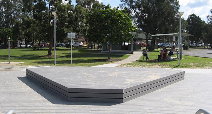 Pool platform – soon to have sail installed.