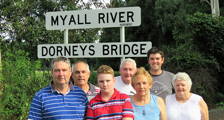 Three Generations of the Dorney Family: Glen, Gary, Michael, Lester, Irene, Helen and Lewis.