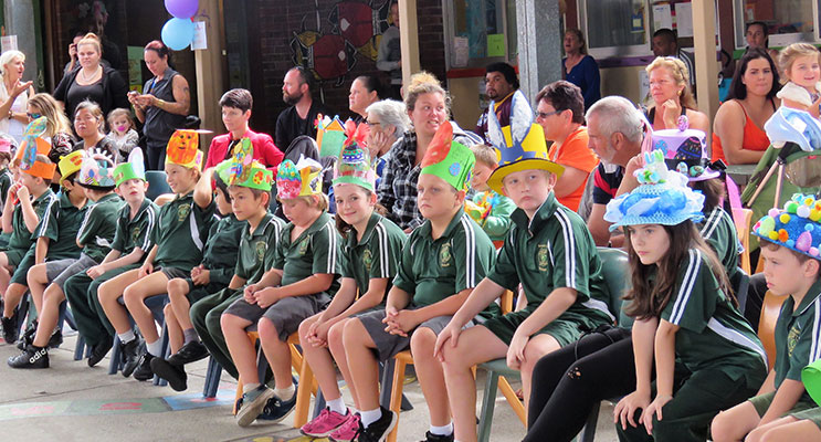Karuah Public School students ready for the parade.