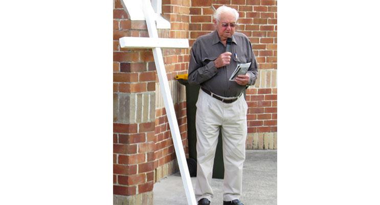 Stations Of The Cross: Community Of Christ Elder Jimmy Richards.