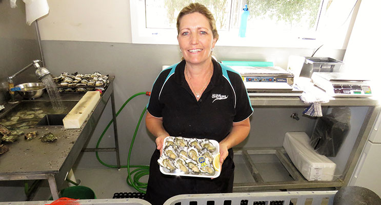 Easter Seafood: Tina Cole at Cole Bros Oysters was kept busy keeping up with the demand for local seafood.