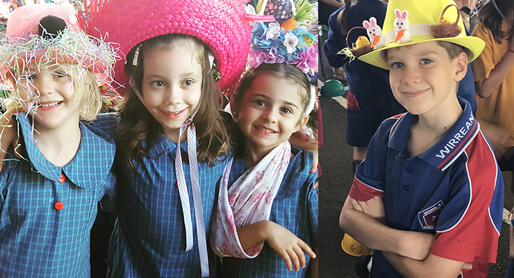 Nat and Amy's kids. (left) Joshua Beasley enjoying the Easter festivities. (right)