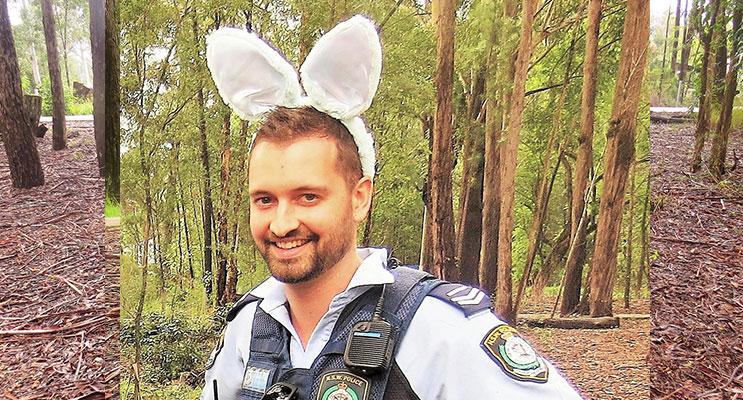 Easter Egg Hunt: Senior Constable David Feeney.