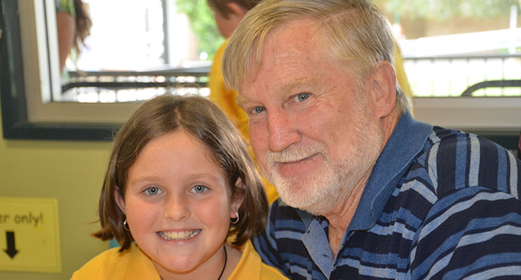 GRANDPARENTS DAY: Lorelei Genner and her grandfather Ralph Genner.