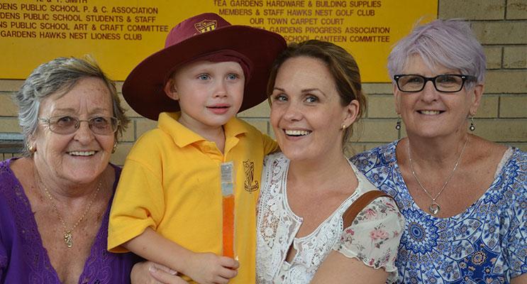 GRANDPARENTS DAY:  Evonne Power, Hudson Turner, Brooke Turner (Mum), Rosemary Rymer.