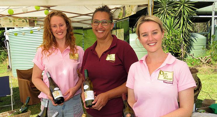 Old Inn Road Vineyard: Sarah Bradshaw, Co-Owner Sooze Bosire and Briahna Bradshaw.