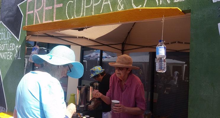 MARDI GRAS: Free Cuppa and Cake