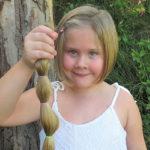 Kirra-Lea Rooney's haircut at Bulahdelah to help cancer patients