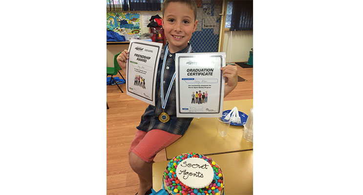 Corey Allen, graduating from the 'Secret Agent Social Skills Program' as a qualified secret agent, having accomplished the understanding of the secret world of social skills and emotional regulation.