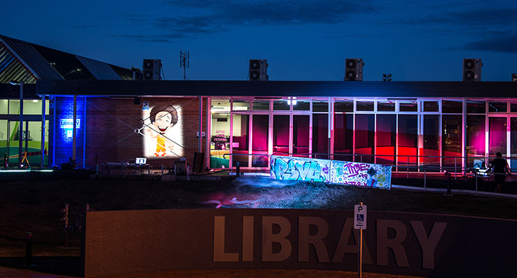 The Light up the Library event will have live music and circus activities.