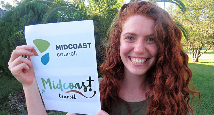 Megan Henry examines the two MidCoast Council brand options.