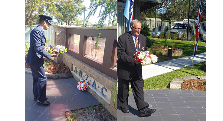 Early Anzac Day Service at Peter Sinclair Gardens