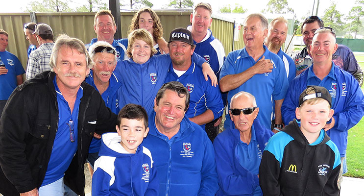 The winning team from Lake Cathie Fishing Club