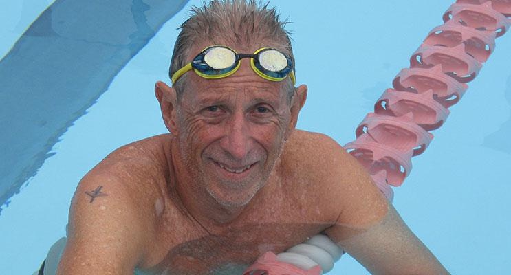 Peter in training in the Doreen Bradley heated pool at  Mallabula.