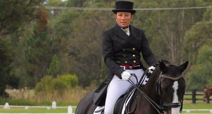 Dr Ilona Hudson riding Flash.