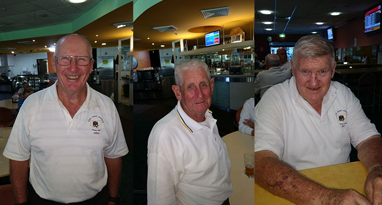 Errol Chivers A Grade winner.(left) Bill Hamilton B Grade winner.(center)3. Darrell Peters C Grade winner. (right)