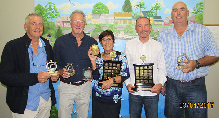 Award Winners: Hugh Jones, John Coles, Lidia Izquierdo. Brad Jensen and Geoff Gessey.