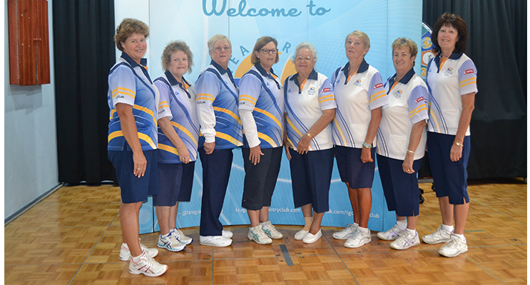 Grade 2 Pennant Team: Robyn Beaumont, Vicki Rankin, Lynne Green, Kayelene Pearson, Maynie Roberts, Dale Winter, Robyn Webster and Karen Green.