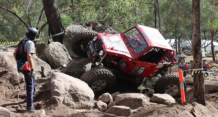 The Redzook team in action at the Tuff Truck Australia challenge. Photos by Kylie Scutt