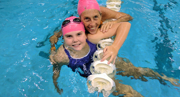 Mackenzie Bell and team mate Judy Cameron.