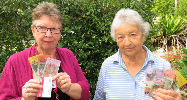 Dianne Burns and Irene Worth say the $75 payment won't offset the continual rising costs of electricity.