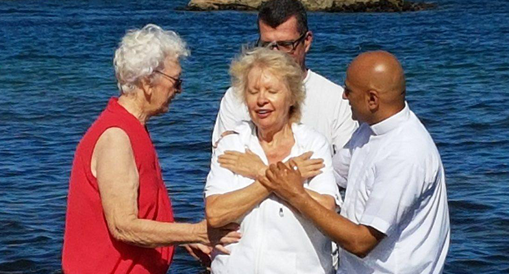 Pat Allsopp wanted to make her faith public through baptism. Photo supplied.