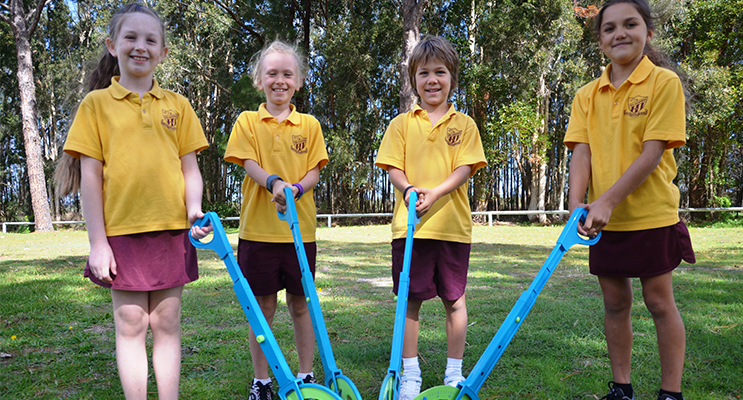 TGPS Year 3 students Evie, Deena, Joseph and Delilah measuring up for NAPLAN.