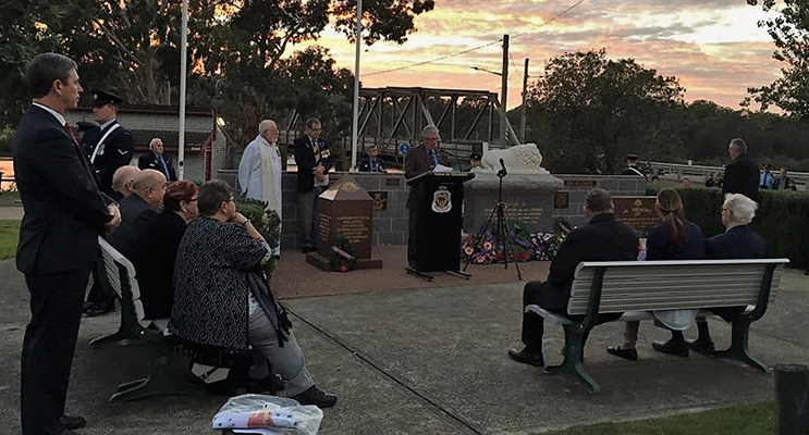 Dr David Gillespie MP, attended the Dawn Service at Karuah.