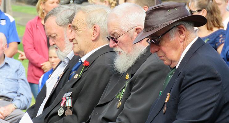 Bulahdelah ANZAC Commemoration: Kevin Carter, Peter Legge, Trevor Head and Graham Chapman.