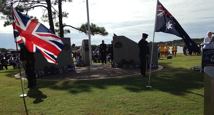 ANZAC DAY: Tea Gardens Hawks Nest War Memorial.