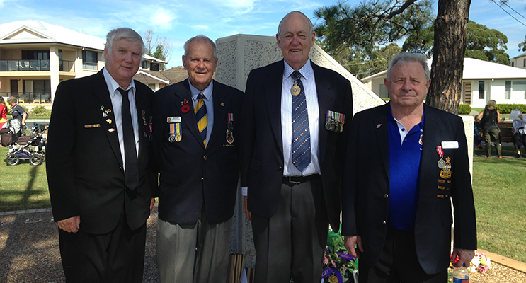ANZAC ORGANISERS: Kevin McInerney, Barry Whiteman, Rear Admiral Ted Horton, Paul Colver.