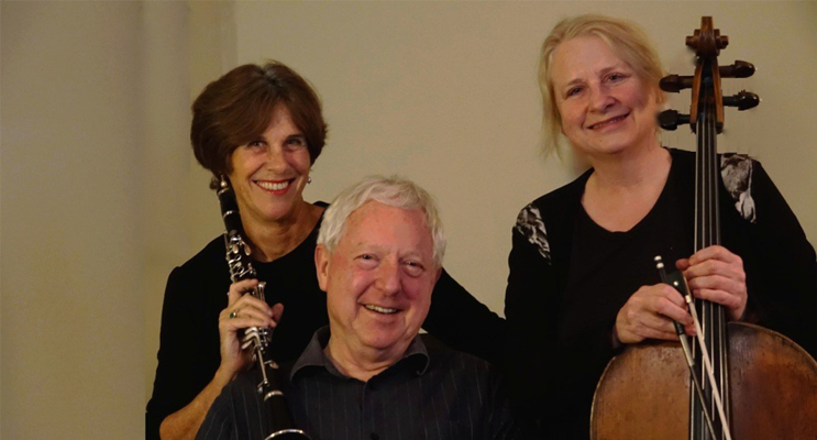Ros Dunlop, David Miller and Julia Ryder from the Charisma Ensemble.