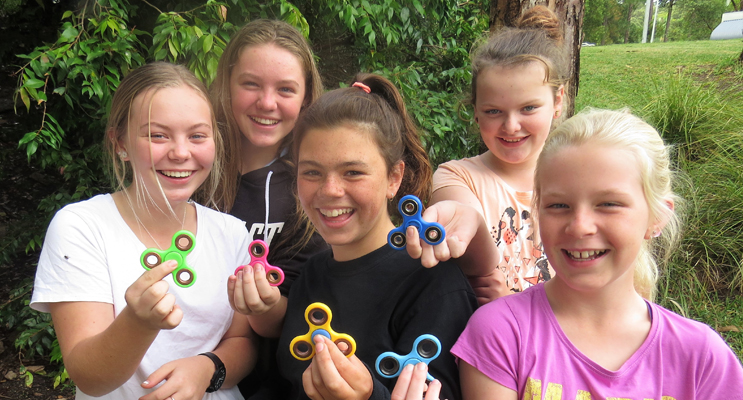 Fidget Spinners: Annee-Rose Perry, Khloe Middleton, Raylee Kierans, Shayla Nevinson and Georgia McKillop-Davies.