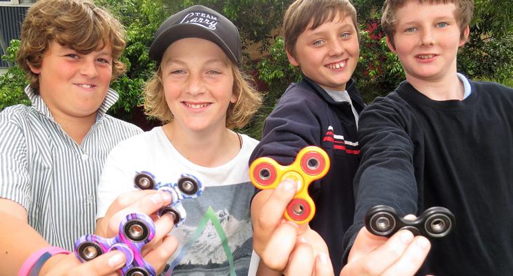 Fidget Spinners: Ethan Pinch, Ben Saunders, David Edgerton, Kaleb Lonergan-Palmer.