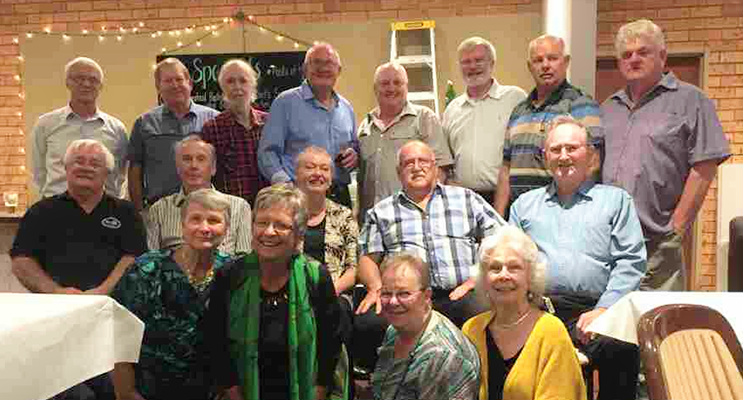 Bulahdelah Central School Class Of '67 and their former teachers, at their 50-year reunion.