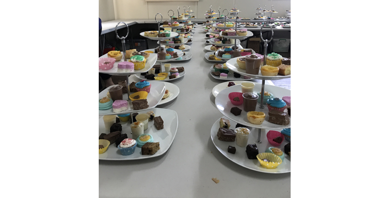 The delicious treats on offer a this year's Medowie Girl Guides High Tea.