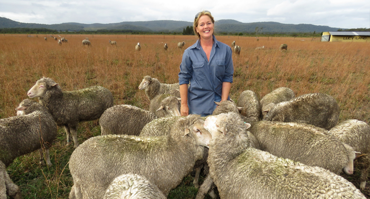 Great Lakes Winter Food Trail: Julie Steepe from Lucy Land Merino Farm.