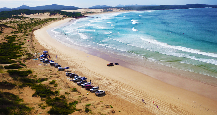 The Guns and Hoses event at One Mile Beach. Photo courtesy of Hover UAV Aerial Photography