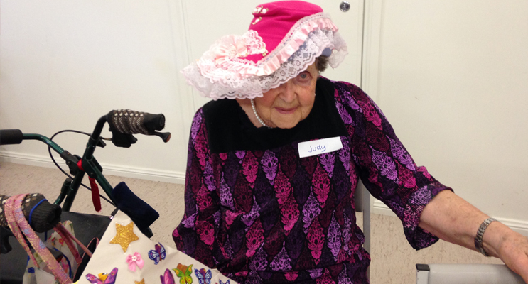 HAT PARADE: Ruth enjoying a day at the SKILLS get together.