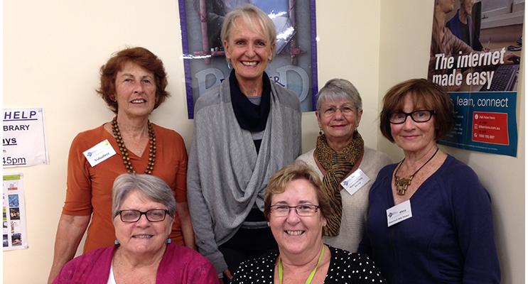 HOMEWORK HELPERS: Back row: Barbara Scott, Sandra McAvoy, Sandra Richardson, Wilma Drake. Front Row: Leonie Keipert, Carol Johnson.