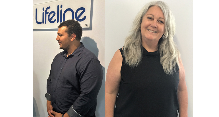 LIFELINE CLINICAL SUPERVISOR: Amir Salem.(left) LIFELINE HUNTER MANAGER: Robyn Lawrence. (right)