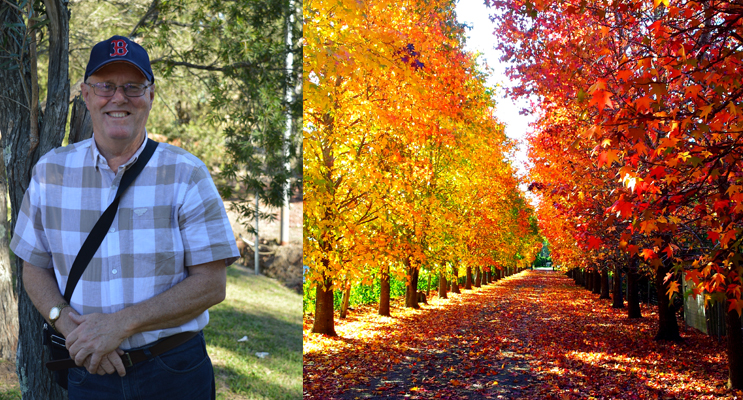 Rod Daniels, Medowie's landscape photographer. (left) Autumn in Medowie' by Rod Daniels. Photo Supplied (right)