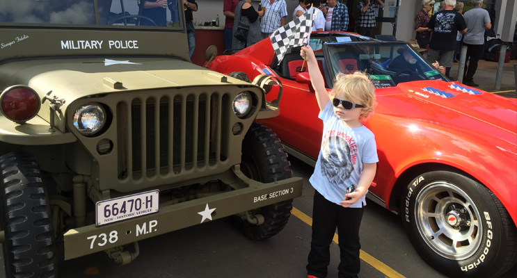 Young Xavier waved in his favourite cars whilst visiting the car show.