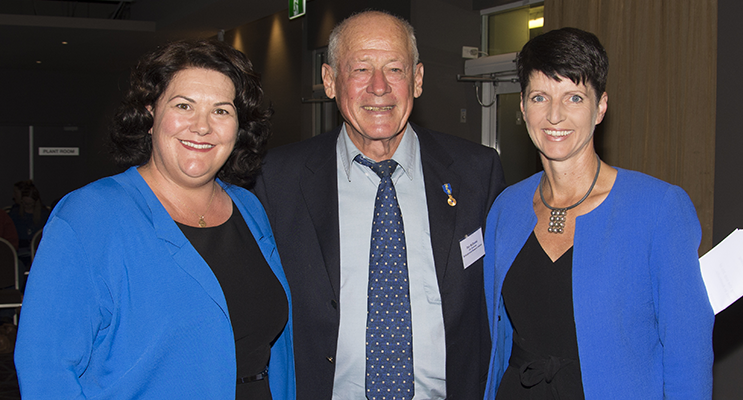 Meryl Swanson MP, Member for Paterson, Don McDonald AM, Event organiser Kate Washington, Local Member for Port Stephens. Image by Square Shoe Photography