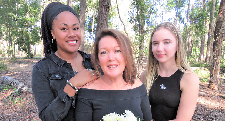 With Love On Mother's Day: Lily, Leanne and Katelyn Sibert.