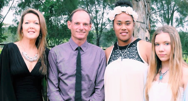 Family: Leanne and Dave Sibert with their daughters Lily and Katelyn. Photo: Supplied